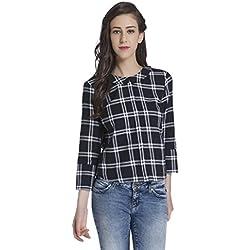 ONLY Women's Button Down Shirt (15145775_Black_34)