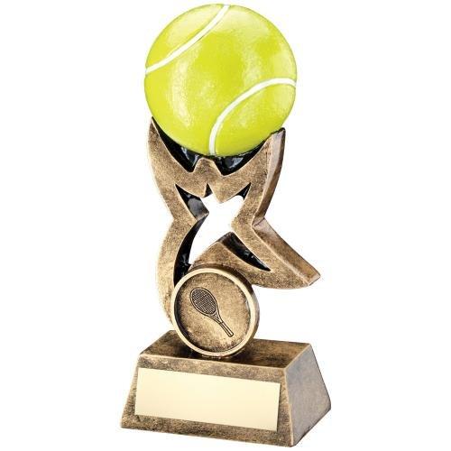 10,2cm Kunstharz Tennis Trophy Award gratis Gravur bis zu 30Buchstaben