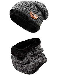 heekpek - Conjunto de bufanda de invierno para hombre y mujer 22836bc13d2