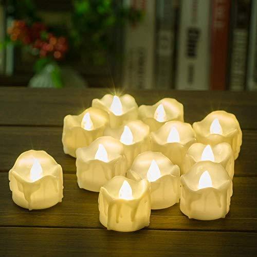 LIHAO LED Teelichter Flammenlose LED Kerzen Batteriebetrieben Für Geburtstag Hochzeit Festival Home Decor (12er Pack),Warmwhite