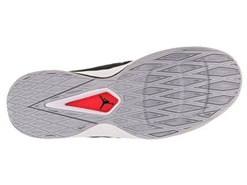 Nike Herren Jordan Rising Hi-Low Basketballschuhe Black (Schwarz / Mtllc SLVR-Weiß-Anthrct)