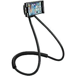 AUTFIT Universel Support Téléphone Autour Cou pour Tablette Smartphone (Noir)