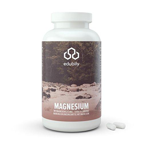 Magnesium-Kapseln Mit Magnesiumglycinat, Citrat & -Carbonat • Ohne Magnesiumstearat • Mit Vitamin B6 (P-5-P) • Vegan (300 Kapseln)