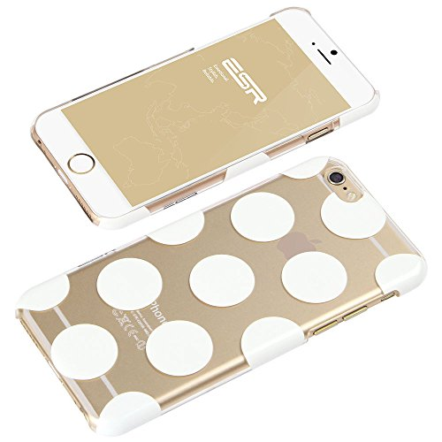 iPhone 6 Plus Case, ESR Mania Series Protective Case Bumper[Scratch-Resistant] [Perfect Fit] Clear Hard Back Cover with Cute Print for 5.5 inches iPhone 6 Plus (Laughing Baby) The Beat Series_Clear Polka Dots