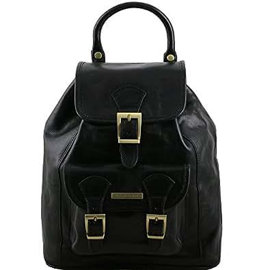 Tuscany Leather - Kobe - Sac à dos en cuir - Noir