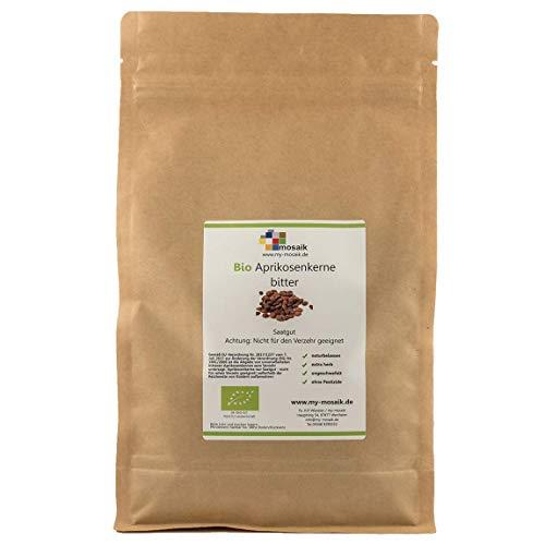 """Bio Aprikosenkerne bitter Qualität""""extra herb"""" 1kg - hoher Bitteranteil, naturbelassen, extra herb, wenig Bruchanteil, ungeschwefelt, aus kontrolliert biologischem Anbau, ohne Pestizide, Saatgut"""