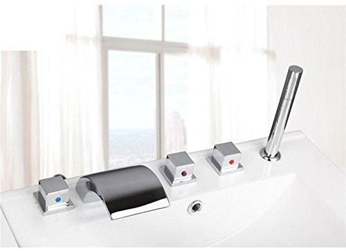 Teile Wasserhahn Badewanne (Messing Teilen warmen und kalten Wasserhähne/Bad Badewanne Wasserhahn Set von fünf/Fällt 5-Loch Armatur heiße und kalte Duschen-D)