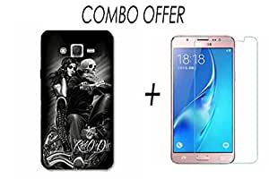 Samsung Glaxy J7-2016 (Back Cover + Tempered Glass Combo Pack) NEU SPEED