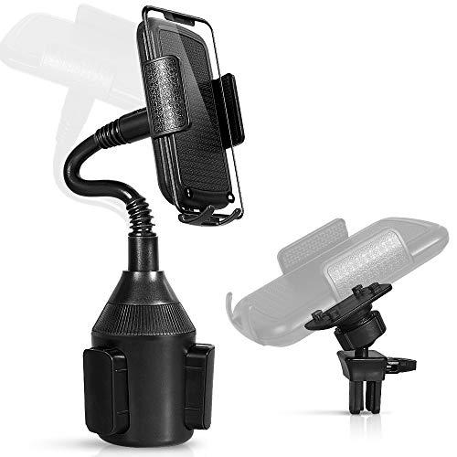 OMID Getränkehalter Handyhalterung Auto Handyhalter 2 in 1 Autohalterung Kfz-Halterung Verstellbar 360 ° Drehung für iPhone XS/X / 8/7/6, Samsung Note 9/8 / Galaxy S9 / S8, Huawei und GPS usw