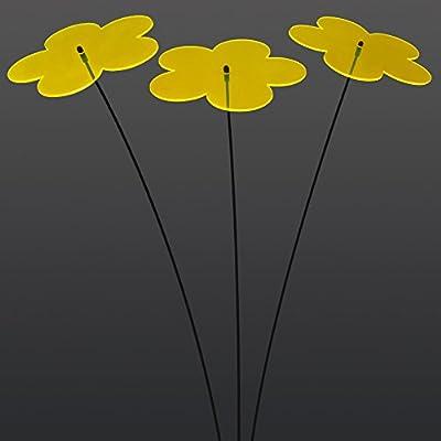 """SUNPLAY """"Sonnenfänger Blumen"""" in GELB, 3 Stück je 20 cm Durchmesser im Set + 70 cm Schwingstäbe von SUNPLAY auf Du und dein Garten"""