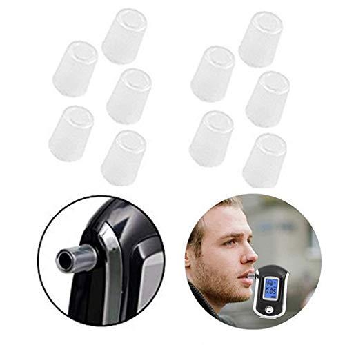 10 Stücke Mundstück Einweg-entfernbare Mundstücke für Alkohol Tester AT6000 (Weiß) -