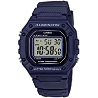 Casio Youth Digital Blue Dial Unisex's Watch-W-218H-2AVDF (I109)