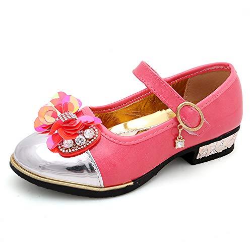 YOSICIL Scarpe Bambina Piccole Scarpe di Cuoio Ballerine Bambine Principessa Paillettes Elegante Scarpe da Bambina Pelle Eleganti Ballerina Ragazze Casuale Scarpe