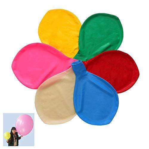 Yunfan 6 Piezas 90 cm de Látex Globos Colores Partido Globos de para el Banquete de Boda Evento del Carnaval del Festival Decoraciones(Blanco, Rosa, Amarillo, Verde, Azul, Rojo)