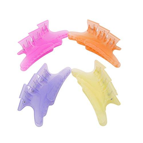 LnLyinl lnlyin 12Stück Schmetterling Friseur Klemmen Salon Hair Friseur Haarkralle Multicolor Clip Haarspangen -