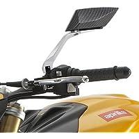 CLE DE TOUS - Universal Espejo retrovisor vista Lateral 8MM 10MM para Moto Motocicleta Color Negro con estampado grano serpiente (1 par)
