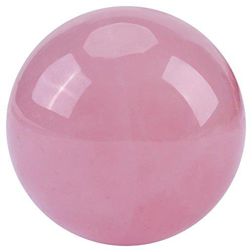 Lot de 1 boule de cristal en quartz rose naturel