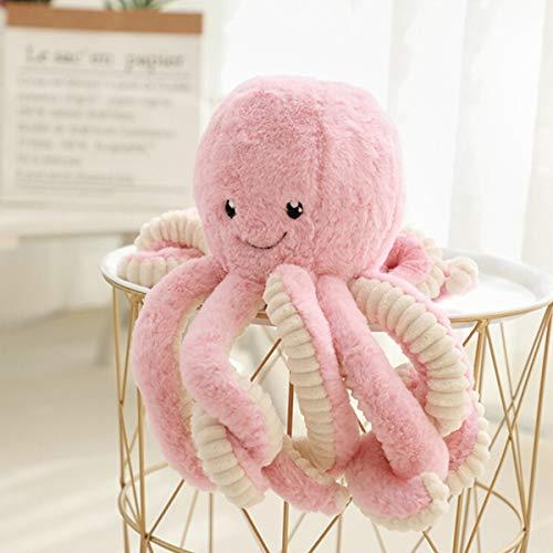 Jycra - peluche a forma di polpo, 40 cm, morbido peluche a forma di polpo, ideale come regalo di compleanno o di natale, rosa, 40 cm