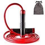 STRLONG Weighted Skipping Rope 1LB,Heavy Jump Rope 4M Adjustable Length Bearing Tangle-Free Skipping