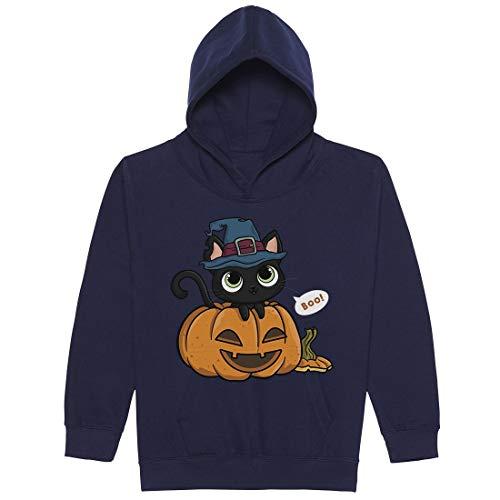 Cat In A Pumpkin with A Witch Hat Unisex Jungen Mädchen 12 Jahre ()