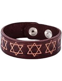Religiosa judía estrella de David Hexagrama étnico Cuff Bangle pulseras pulsera ...