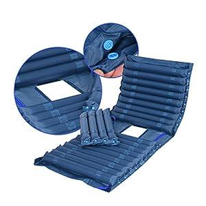 Aufblasbare Anti-Dekubitus-Matratze – Wechseldruckpolster zur Vorbeugung von Geschwüren und zur Behandlung von Dekubitus – Schwankungsmatratze mit Dämpferpumpe