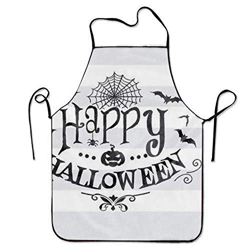 ERCGY 2019 Apron Happy Halloween Adjustable Apron for Kitchen BBQ Barbecue Cooking Chef Waitress (Happy My Halloween 2019)