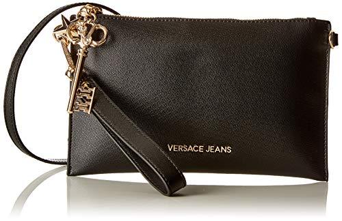 9e7025c75f Versace Jeans Wallet, Portafoglio Donna, Nero, 0.5x16x26 cm (W x H