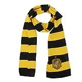 Vouge Haus Gryffindor Cosplay Stricken Wollkostüm Kleidung Schals Winter Schal Scarf Hufflepuff Kostüm Cosplay- schwarz, gelb , medium