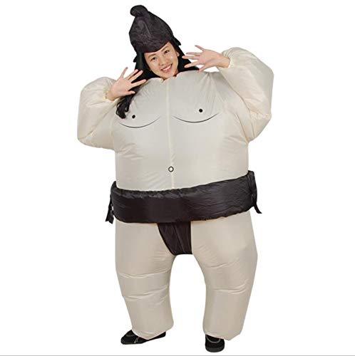 AMhuui Halloween aufblasbar, Jahrestagung kreative Leistung Requisiten aufblasbare Puppe Kostüm, lustige Dicker Mann, Sumo-Kleidung, Erwachsene lustig,Adult