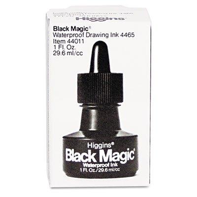 Higgins Black Magic Waterproof Drafting Ink, 1 oz, Black (HIG44011) by Higgins