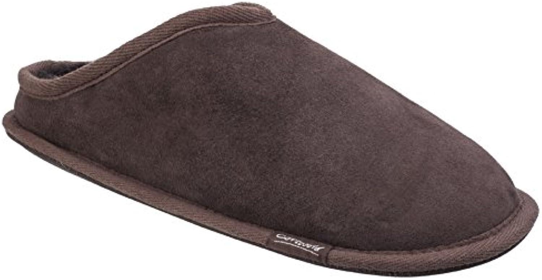 Cotswold Mens Hidcote Sheepskin Warm Open Back Premium Mule Slippers -