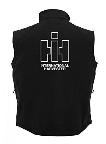 IHC Int. Harvester Oldtimer Weste | Bodywarmer | sehr strapazierfähig Schwarz