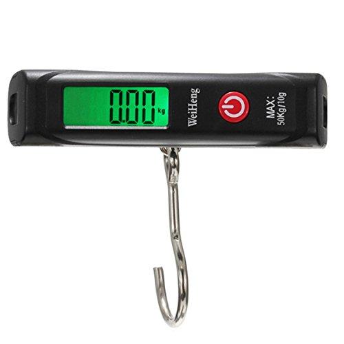 Preisvergleich Produktbild Elektronische Waage mit Haken, für Gepäck, Fisch, Einkäufe, die Küche, Nahrungsmittel, fürs Zuhause, digital, tragbar, 50kg/10g