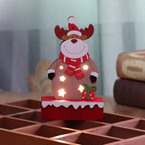 jieGREAT ❄ Weihnachten Deko❄ ,Weihnachtsdekorationen glänzende Holz Ornamente Shop Fenster Dekoration