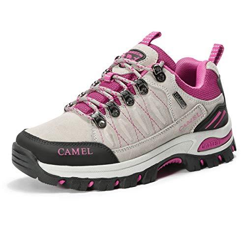 CAMEL CROWN Zapatillas de senderismo para mujer, antideslizantes, para senderismo al aire libre, zapatillas...
