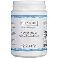 Vita Natura Sango Coral Korallenkalzium Pulver 250g | 100% Rein | Hoher Kalziumgehalt