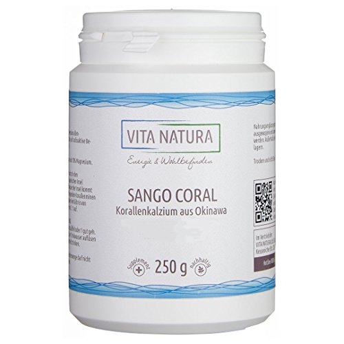 Vita Natura Sango Coral Pulver, Meereskoralle aus Okinawa, 1er Pack (1 x 250 g)