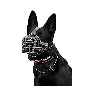 DINGO GEAR Dog Training Muzzle, Military K9 Agitation Metal Muzzle for Working Dogs S03003