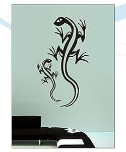 Indigos WG30019-22 Wandtattoo w019 2 Geckos 120 x 58, gelb