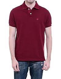 CHKOKKO Two Button Half Sleeves Polo Cotton T Shirts For Men