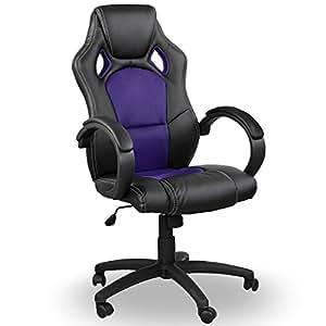 Miganeo Sportsitz Chefsessel Bürostuhl Racer schwarz lila 59823