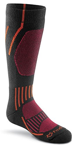 Fox River Kids Boreal over-the-calf Medium Gewicht Socken, unisex, schwarz (River Fox Socken Kids)