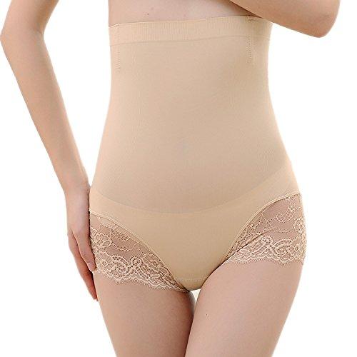 hippolo Frauen Bambusfaser Slip Pants Hip Pants Damen Hohe Taille Bauch Unterwäsche Unterstützung Body Hosen eine Größe Complextion Einheitsgröße -