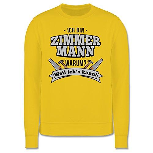 Handwerk - Ich bin Zimmermann - Herren Premium Pullover Gelb