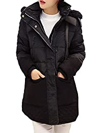 Queenshiny Long Women's Down Coat hooded duck down filling winter double lining jacket uk size from 8--16