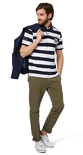 Tom Tailor für Männer Polo gestreiftes Polo-Shirt Dark Blue