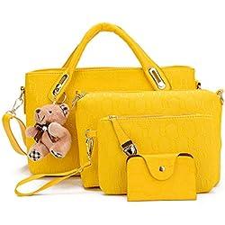 Pahajim Famoso bolso de las mujeres de la marca Bolsos de mensajero de las mujeres de moda conjunto de bolsos de cuero de la PU