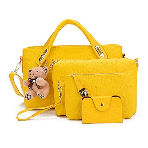 Pahajim Damen Handtaschen Handtaschen Leder Frauen Handtaschen Set 10 teiliges Fashion Rucksack Damenhandtasche tasche taschen günstig beuteltasche günstige handtaschen