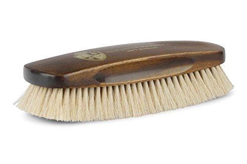 Langer & Messmer Exklusiv Glanzbürste aus hellem Rosshaar - die Schuhbürste für die professionelle Schuhpflege …